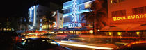 Buildings at the roadside, Ocean Drive, South Beach, Miami Beach, Florida, USA by Panoramic Images