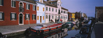 Houses at the waterfront, Burano, Venetian Lagoon, Venice, Italy by Panoramic Images