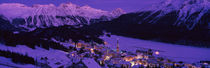 High angle view of a village, St. Moritz, Switzerland by Panoramic Images