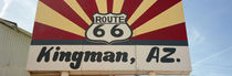 Low angle view of a road sign, Route 66, Kingman, Mohave County, Arizona, USA von Panoramic Images