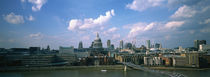 Buildings on the waterfront, St. Paul's Cathedral, London, England by Panoramic Images