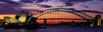 Sydney Harbour Bridge At Sunset, Sydney, Australia by Panoramic Images