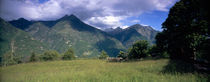 Clouds over a mountain range, Blenio Valley, Ticino, Switzerland by Panoramic Images