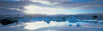 Icebergs in a lake, Jokulsarlon Lagoon, Iceland von Panoramic Images