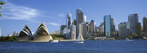 Sydney, Sydney harbor, View of Sydney Opera House and city by Panoramic Images