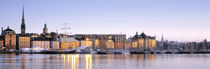Buildings on the waterfront, Old Town, Stockholm, Sweden von Panoramic Images
