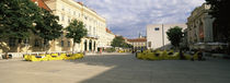 Buildings in a city, Museumsquartier, Vienna, Austria by Panoramic Images