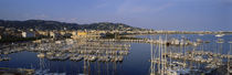 High Angle View Of Boats Docked At Harbor, Cannes, France by Panoramic Images