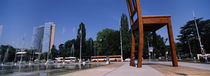 Sculpture of a chair, United Nation Square, Geneva, Switzerland by Panoramic Images