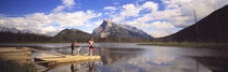 Mountain Bikers Vermilion Lakes Alberta Canada by Panoramic Images