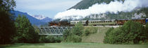 Train on a bridge, Bohinjska Bistrica, Slovenia von Panoramic Images