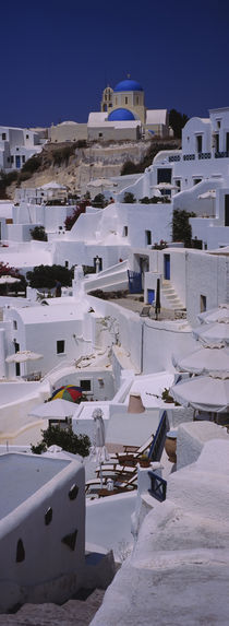 High angle view of houses, Oia, Santorini, Greece von Panoramic Images