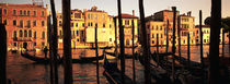 Gondolas in a canal, Venice, Italy by Panoramic Images