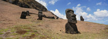 Rano Raraku, Easter Island, Chile von Panoramic Images