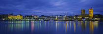 Buildings at the waterfront, City Hall, Oslo, Norway by Panoramic Images