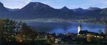 Village at the lakeside, Wolfgangsee, Salzkammergut, Austria by Panoramic Images