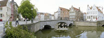 Bridge across a channel, Bruges, West Flanders, Belgium von Panoramic Images