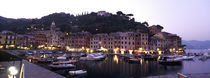 Boats at a harbor, Portofino, Genoa, Liguria, Italy by Panoramic Images