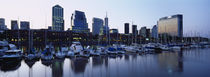 Boats Docked At A Harbor, Puerto Madero, Buenos Aires, Argentina by Panoramic Images