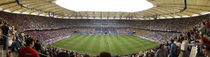 Crowd in a stadium to watch a soccer match, Hamburg, Germany von Panoramic Images