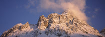 Low angle view of snow covered mountain, Mt Zugspitze, Bavaria, Germany von Panoramic Images