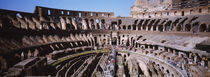 High angle view of tourists in an amphitheater, Colosseum, Rome, Italy by Panoramic Images