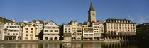 Switzerland, Zurich, Buildings at the waterfront by Panoramic Images