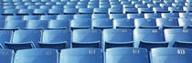 Empty blue seats in a stadium, Soldier Field, Chicago, Illinois, USA von Panoramic Images