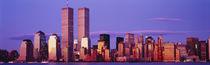 Panorama Print - Wolkenkratzer in einer Stadt New York City, New York State, USA von Panoramic Images