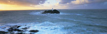 Lighthouse on an island, Godvery Lighthouse, Hayle, Cornwall, England by Panoramic Images