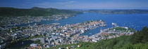 High angle view of a city, Bergen, Hordaland, Norway by Panoramic Images