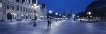 Hotel de Ville & Notre Dame Cathedral Paris France by Panoramic Images