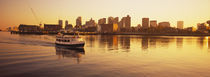 Ferry moving in the sea, Boston Harbor, Boston, Massachusetts, USA by Panoramic Images