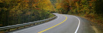 Road passing through a forest, Winding Road, New Hampshire, USA by Panoramic Images