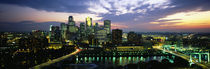 Buildings Lit Up At Dusk, Minneapolis, Minnesota, USA by Panoramic Images