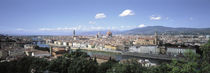 High angle view of a city, Florence, Tuscany, Italy by Panoramic Images