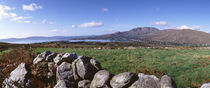 UK, Ireland, Beara Peninsula, Rocks in front of Caha Mountains by Panoramic Images