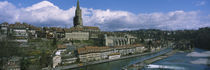 High angle view of a cathedral in a city, Munster Cathedral, Berne, Switzerland by Panoramic Images