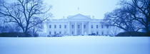 White House with snow at dusk, Washington DC, USA by Panoramic Images
