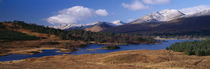 Lake on mountainside, Loch Tulla, Rannoch Moor, Argyll, Scotland by Panoramic Images