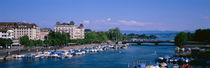 High angle view of a harbor, Zurich, Switzerland by Panoramic Images