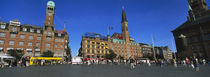 Low Angle View Of Buildings In A City, City Hall Square, Copenhagen, Denmark by Panoramic Images