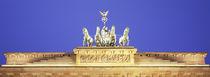 High section view of a gate, Brandenburg Gate, Berlin, Germany by Panoramic Images