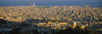 High Angle View Of A Cityscape, Barcelona, Spain von Panoramic Images