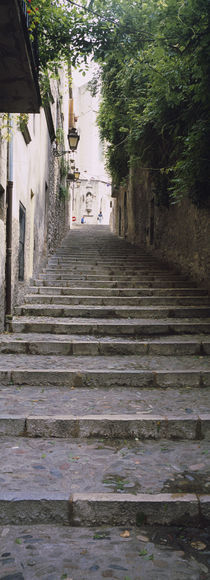 Narrow staircase to a street, Girona, Costa Brava, Catalonia, Spain by Panoramic Images