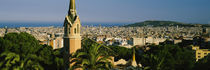 High angle view of a city, Barcelona, Spain von Panoramic Images