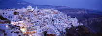 High angle view of buildings, Santorini, Cyclades Islands, Greece by Panoramic Images