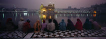 Group of people at a temple, Golden Temple, Amritsar, Punjab, India by Panoramic Images