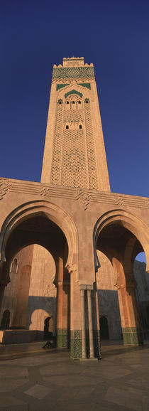 Low angle view of the tower of a mosque, Hassan II Mosque, Casablanca, Morocco von Panoramic Images