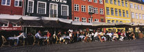 Tourists In A Road Side Restaurant, Nyhavn, Copenhagen, Denmark von Panoramic Images